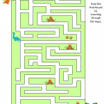 Free Printable Dinosaur Maze Game