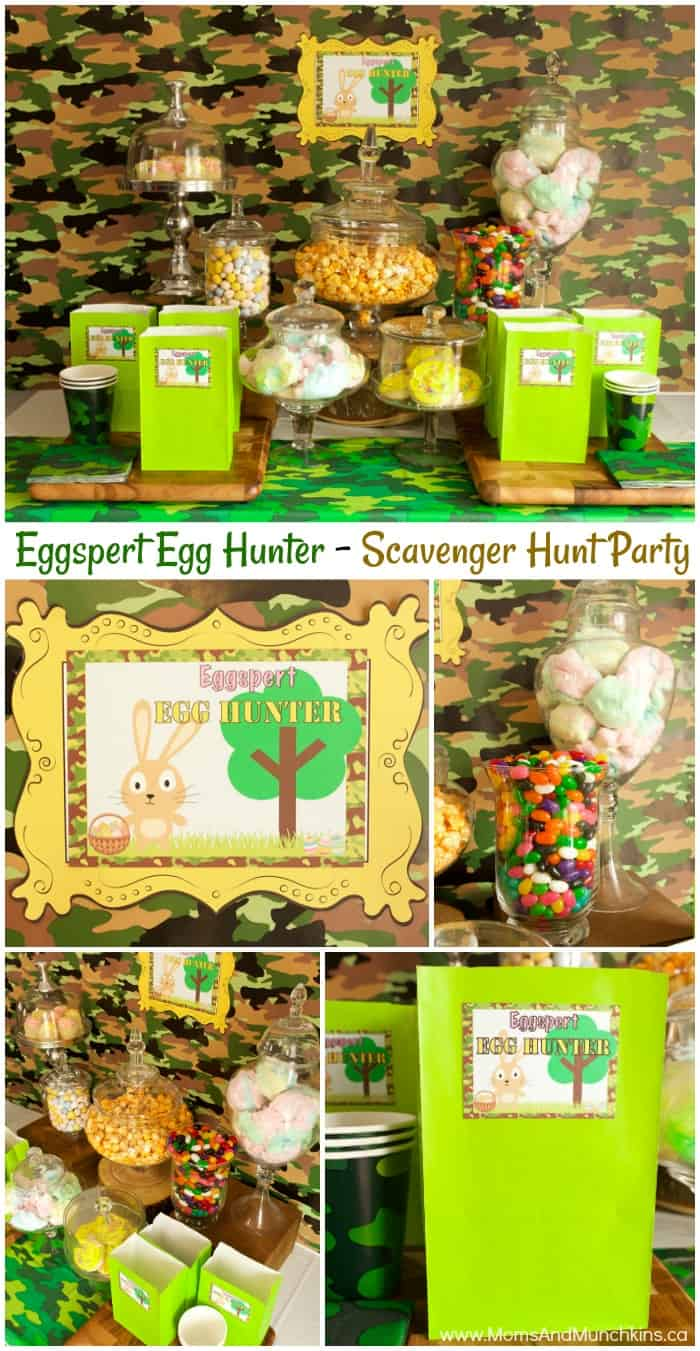 Easter Scavenger Hunt Party - Eggspert Egg Hunter Printables