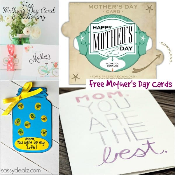 Printable Mothers Day Cards For: Mother's Day Ideas (Free Printables And More!)