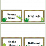 Swamp Party Food Ideas Plus Free Printables