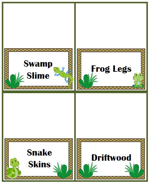 Swamp Food Ideas