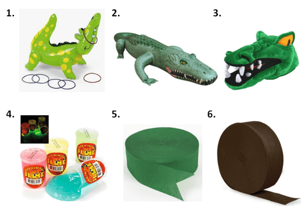 Swamp Party Games Supplies