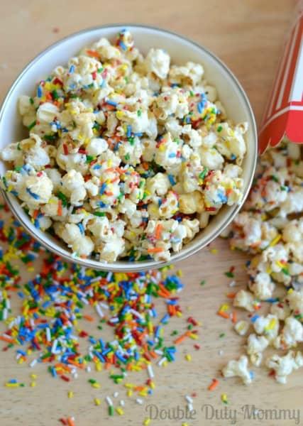 Funfetti Birthday Cake Popcorn