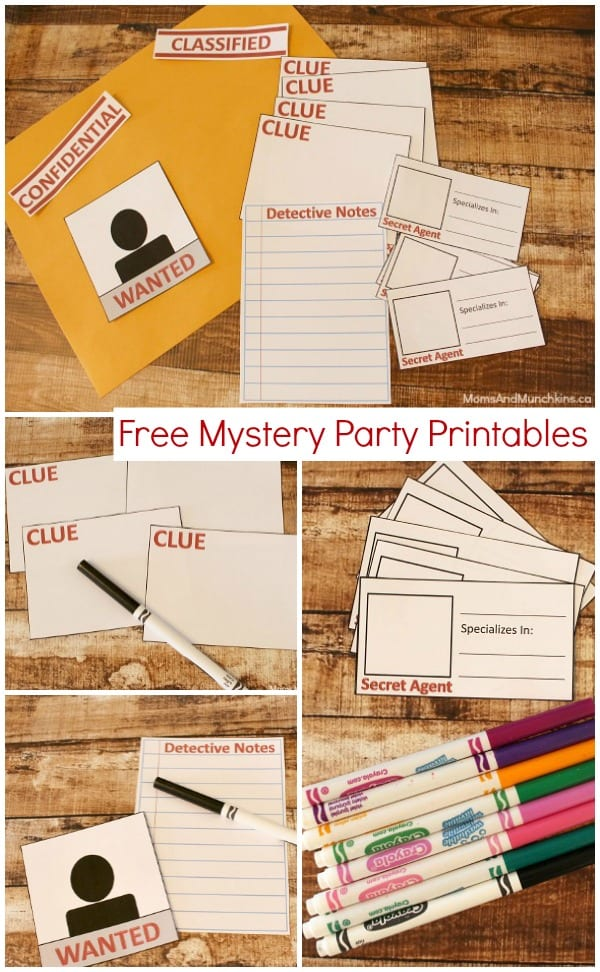 Mystery Party Printables