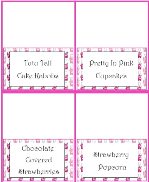 Custom Card Template » Table Tent Cards Template Free - Free Card