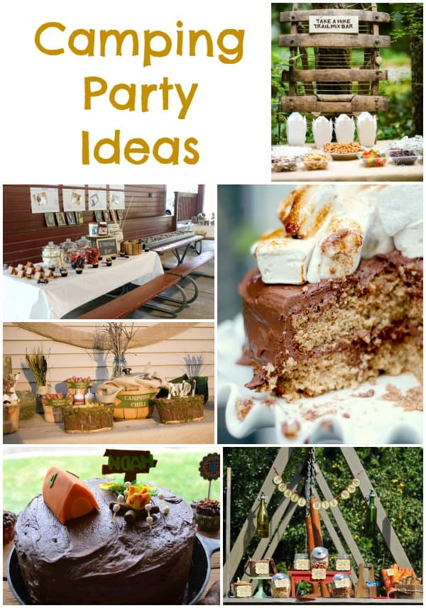 Camping Party Inspiration Collection Moms Amp Munchkins
