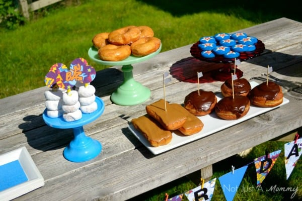 Father S Day Party Ideas Doughnuts With Super Dad