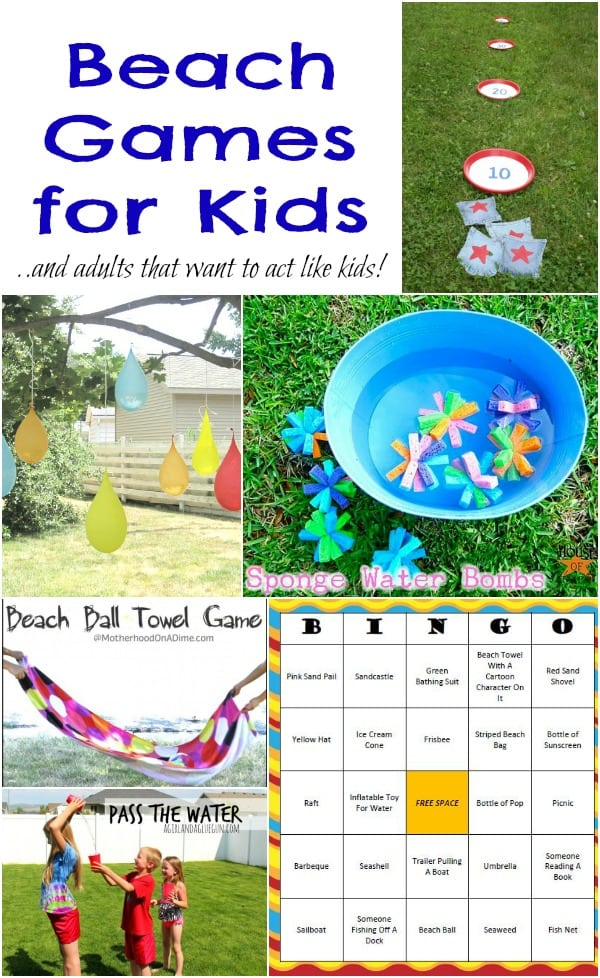 Classroom Game Ideas For Adults ~ Beach games for kids adults moms munchkins