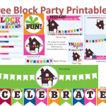 Neighborhood Block Party Printables
