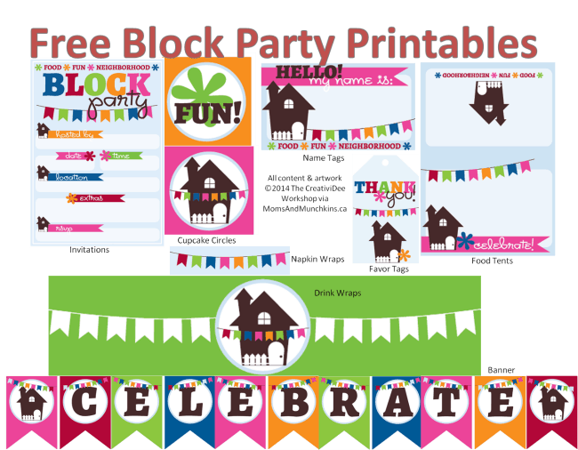 Neighborhood block party printables free for Block party template flyers free