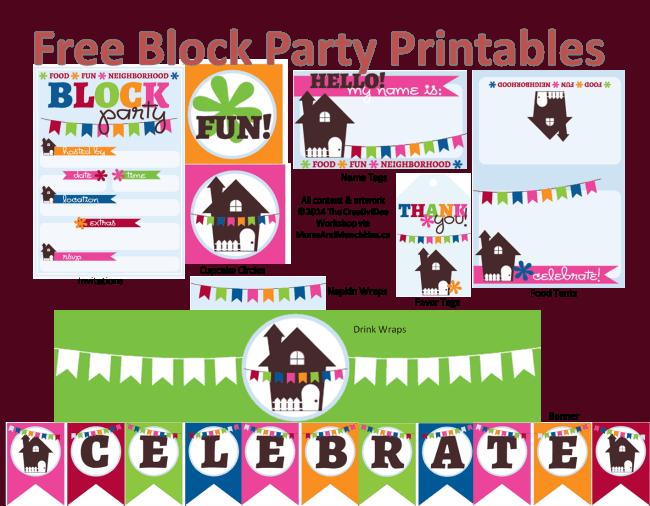 Neighborhood Block Party Printables Free – Neighborhood Block Party Invitations
