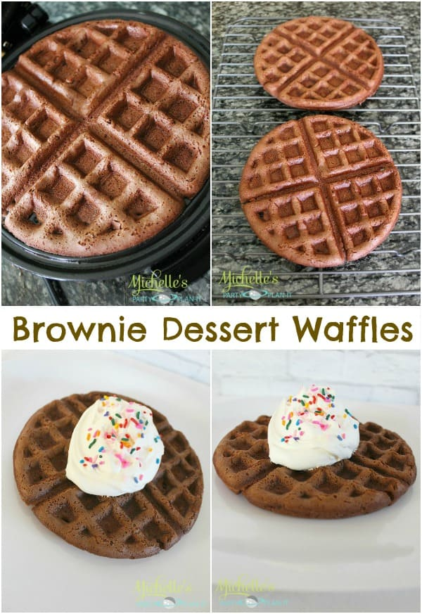 Brownie Waffles (Delicious Dessert) - Moms & Munchkins