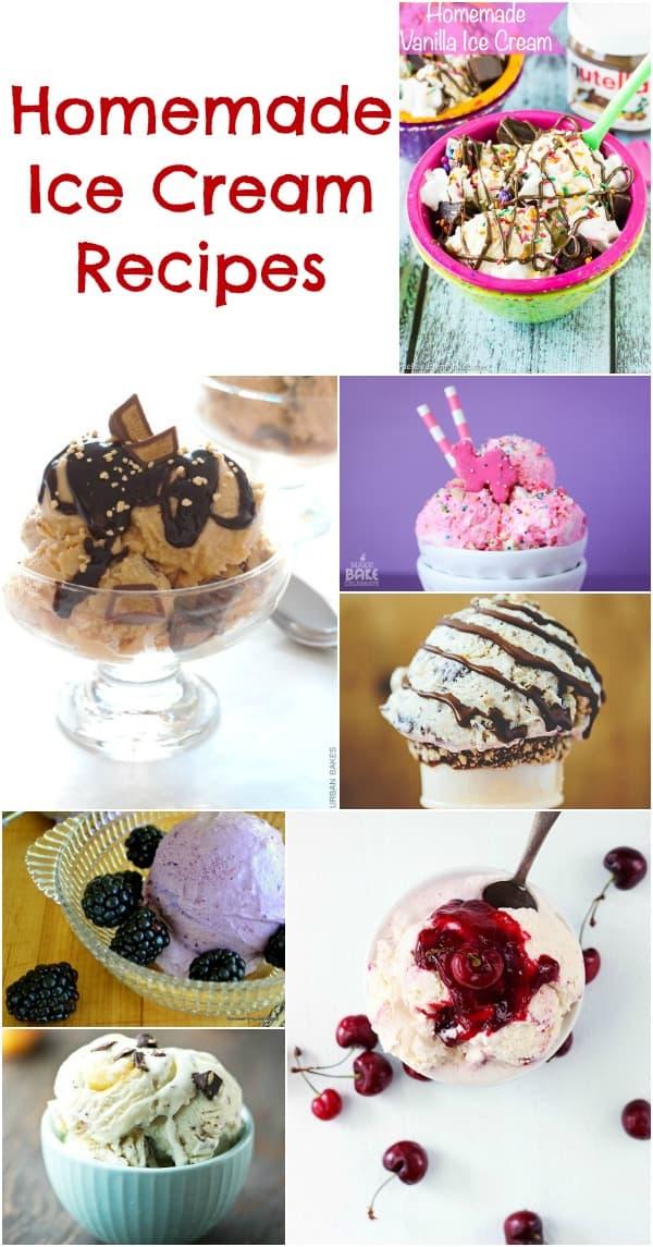 Homemade Ice Cream Recipes