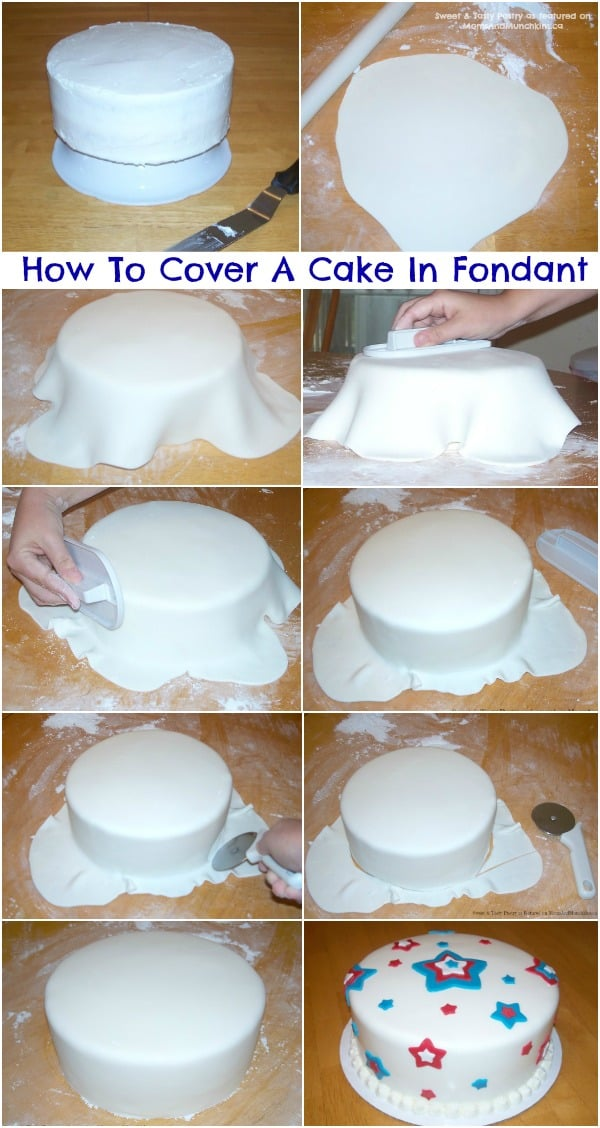 How to cover a cake with fondant tutorial for How to decorate a cake for beginners