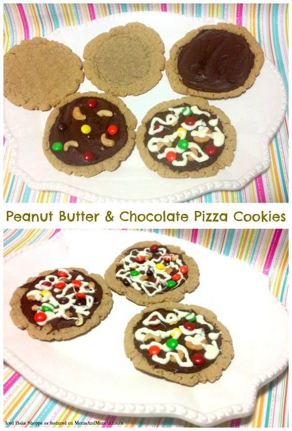 Peanut Butter and Chocolate Pizza Cookies