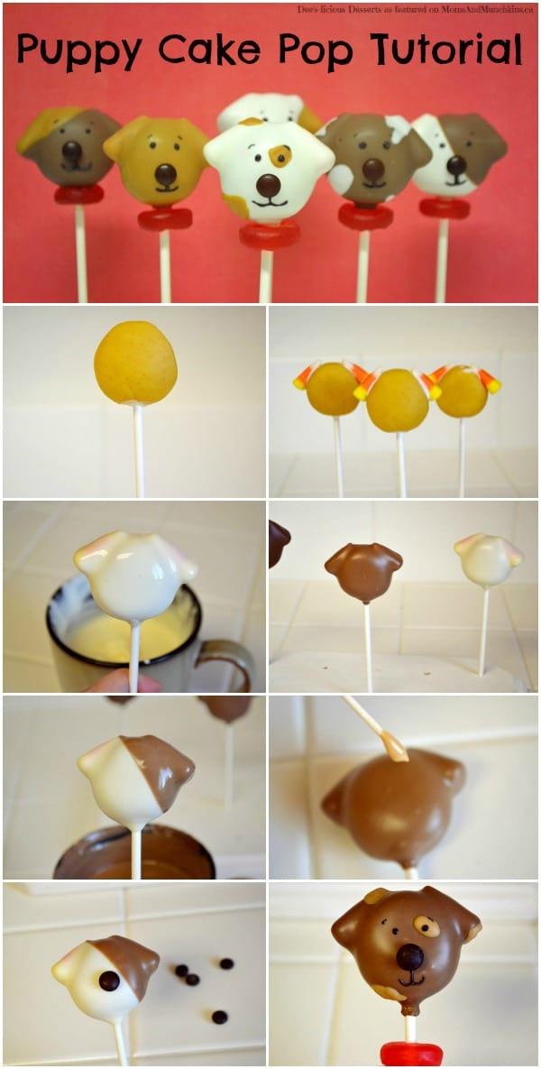 Dog Cake Pops Tutorial Moms Amp Munchkins