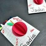 Crayon Bag Place Cards