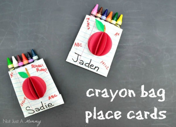 Back To School Favor Bags