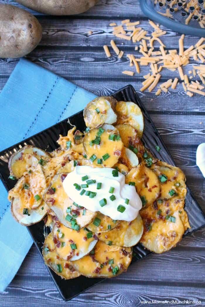 Loaded Baked Potato Nachos