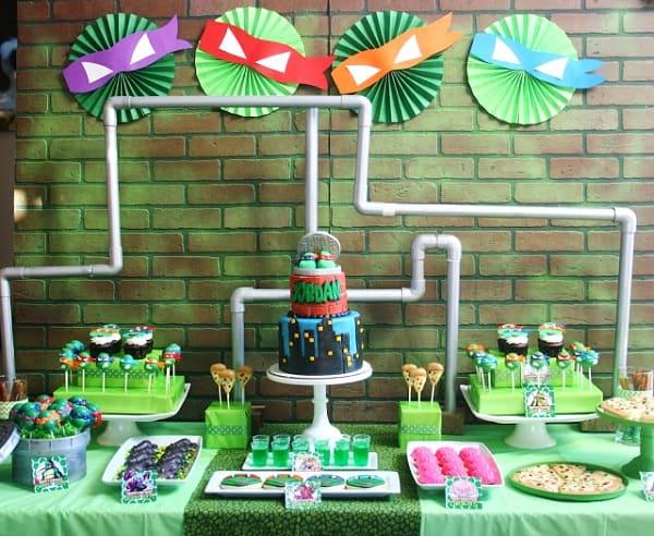 Teenage mutant ninja turtles birthday party decor ideas for Tmnt decorations