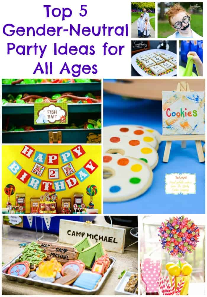 top party ideas for all ages  gender