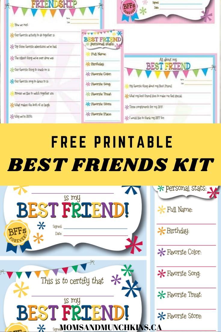 Free Best Friend Kit Printable
