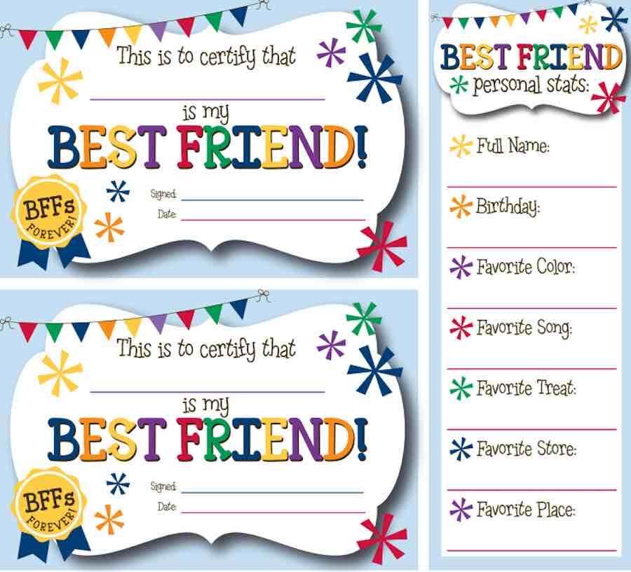 Best Friend Kit Printable