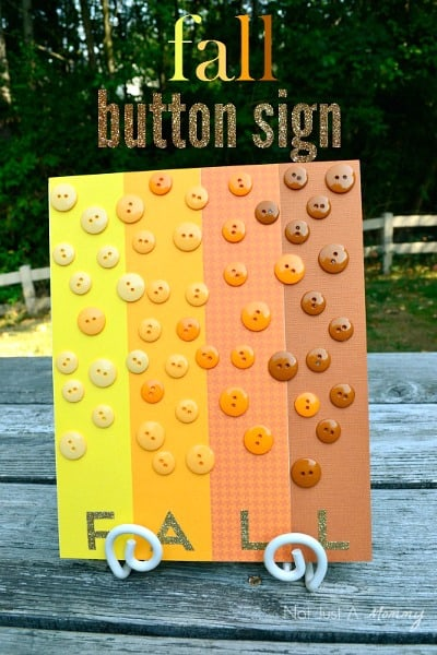 Fall Craft - Fall Button Board