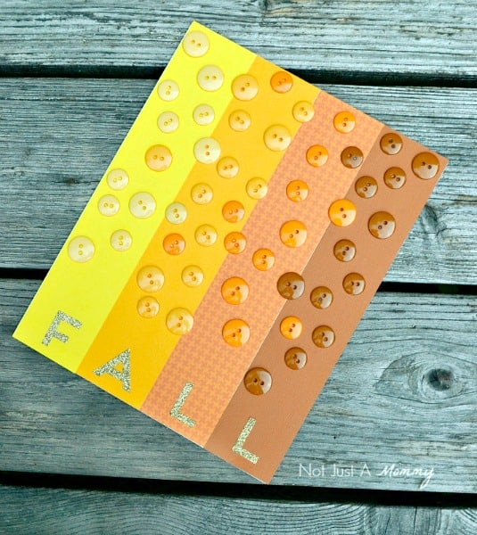 Fall Craft - Fall Button Board