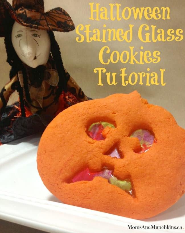 Stained Glass Cookies for Halloween - Moms & Munchkins