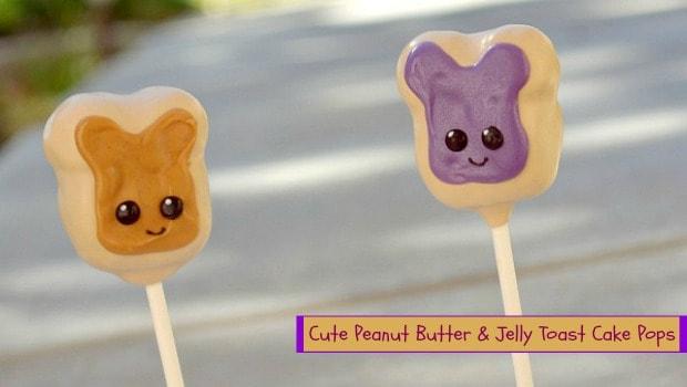 Peanut Butter & Jelly Toast Cake Pops
