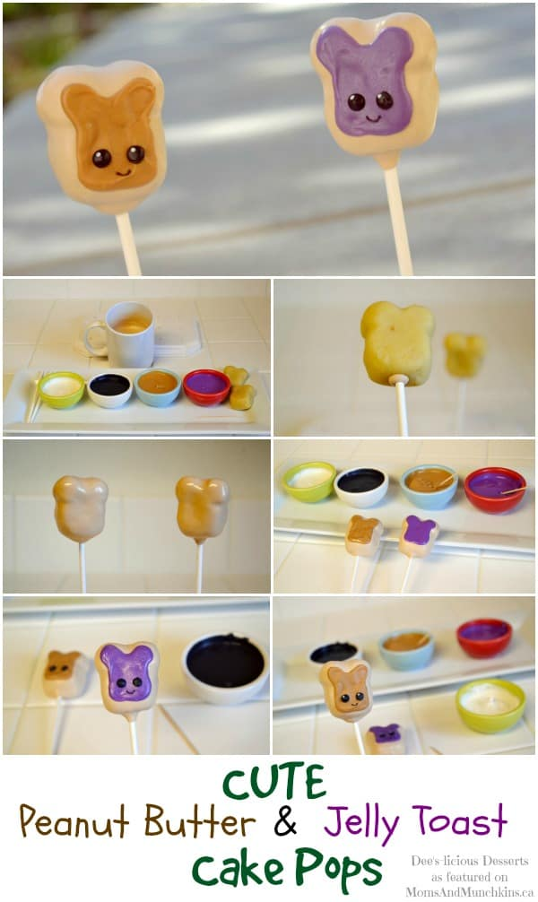 Peanut Butter & Jelly Toast Cake Pops