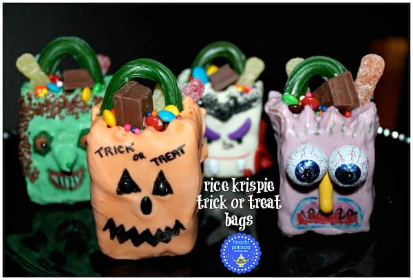 Rice Krispie Trick or Treat Bags