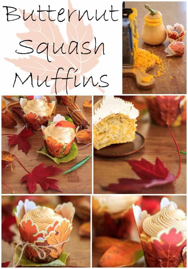 Butternut Squash Muffins with Caramel Buttercream