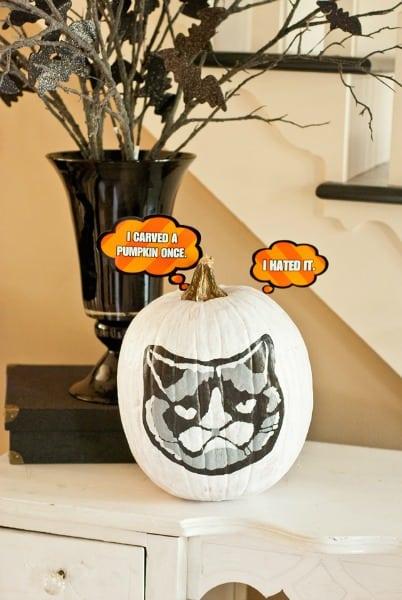 Grumpy Cat Pumpkin