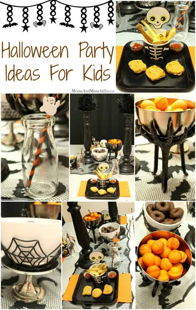 Halloween party ideas for kids moms munchkins - Childrens halloween decorations ...
