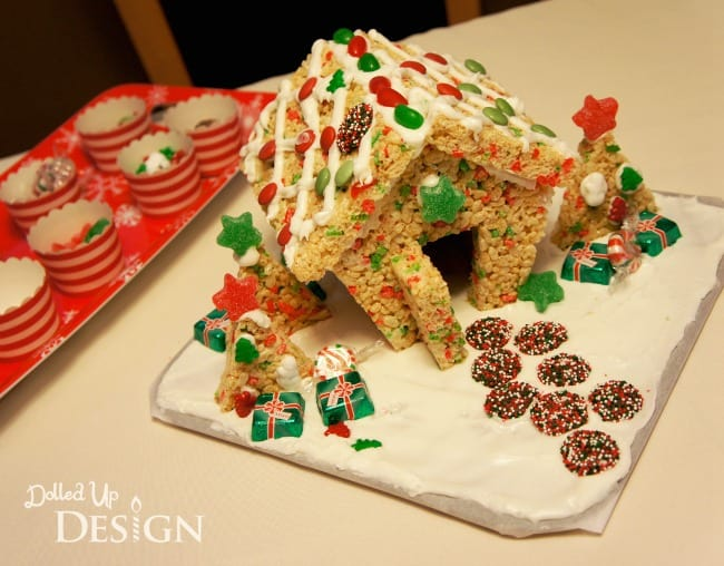 Rice Krispies House For The Holidays - Moms & Munchkins