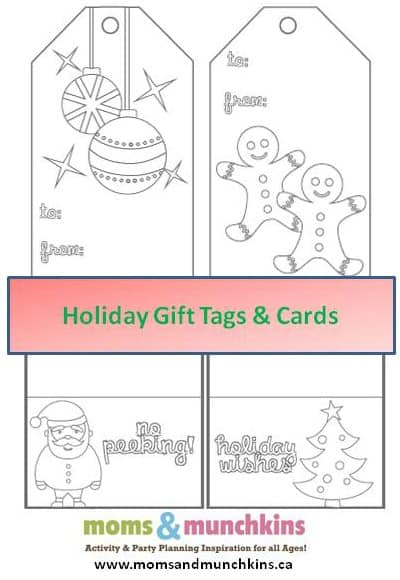 Printable Christmas Cards to Color  Moms  Munchkins
