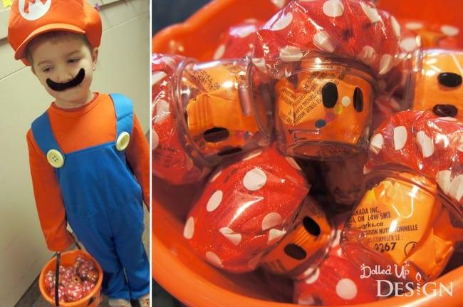 DIY Mario Mushroom Favors