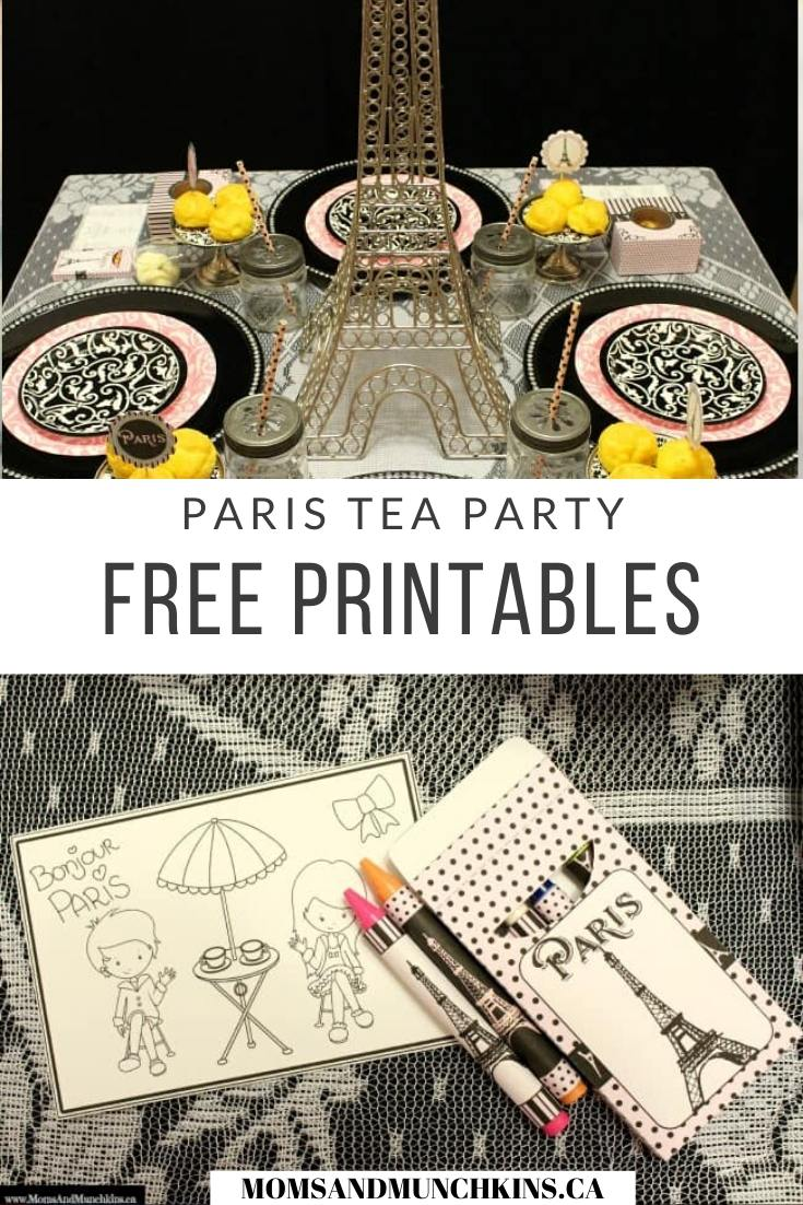 Paris Tea Party Printables