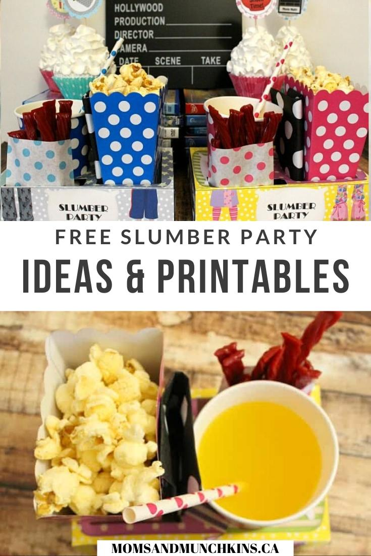 Slumber party ideas and printables
