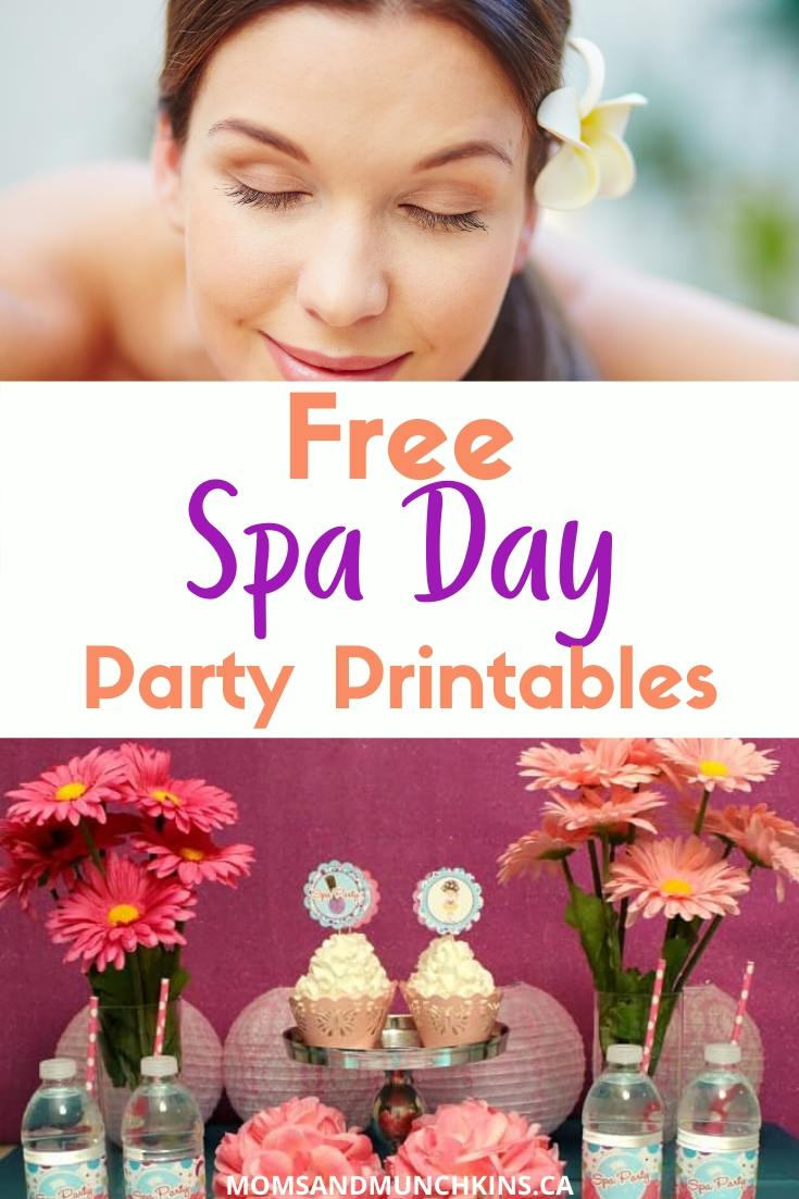 spa day party Printables