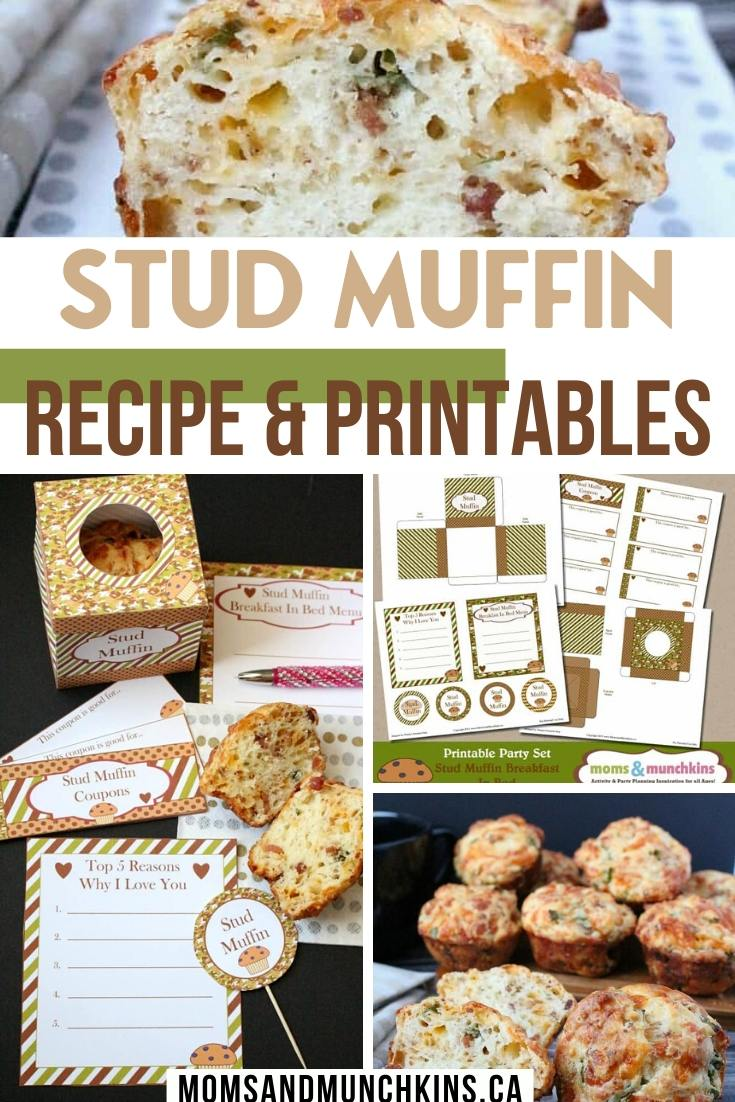 Stud muffin recipe and printables