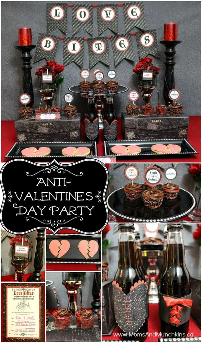 Anti Valentine S Day Party Moms Amp Munchkins