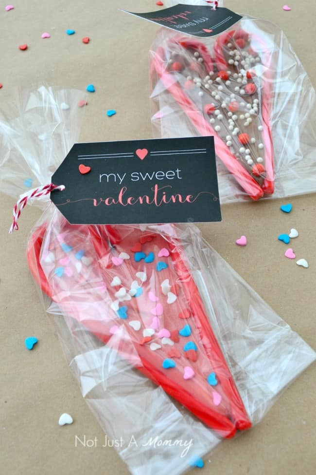 Candy Cane Valentines + Free Printable