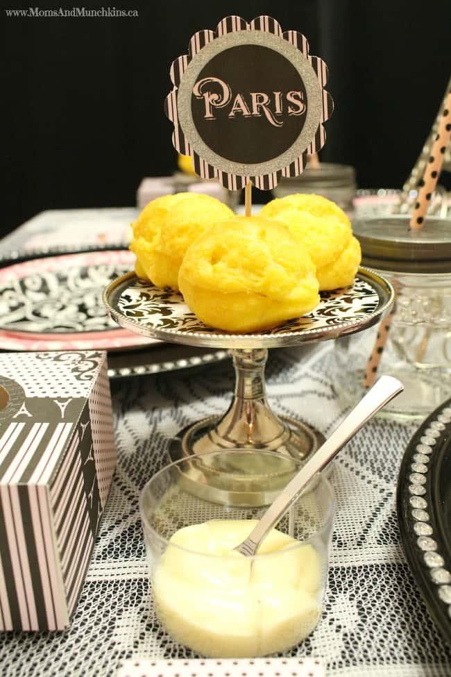 Paris Tea Party Printables - Cream Puff Buffet