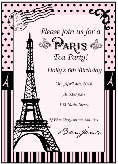 Paris Tea Party and Printables - Moms & Munchkins