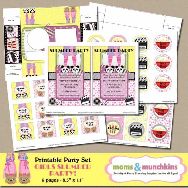 Slumber Party Printables for Girls