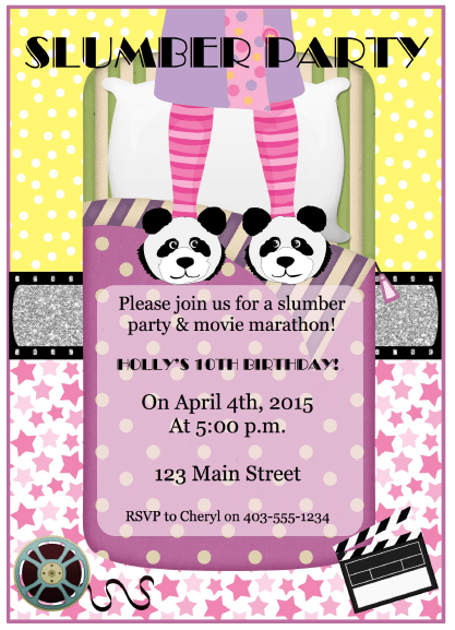 Slumber Party Printables for Girls