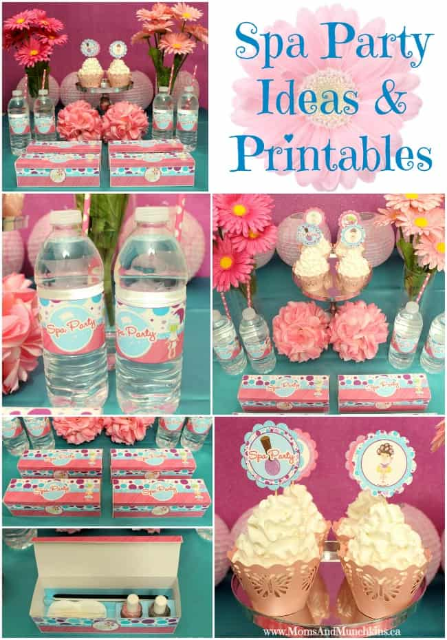 Spa Party Ideas Printables Moms Munchkins